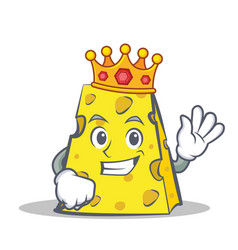 King cheese character cartoon style vector