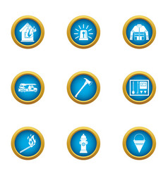 Lose your home icons set flat style vector