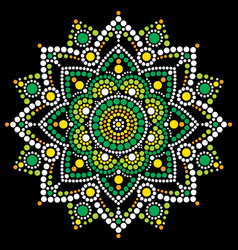 mandala dot art aboriginal dot painting vector image
