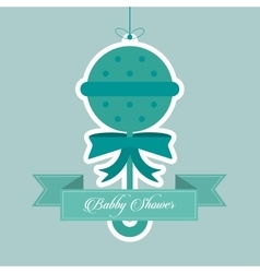 Maraca of baby shower card design vector