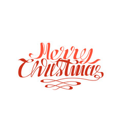 merry christmas calligraphic inscription isolated vector image