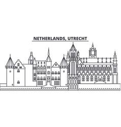 netherlands utrecht line skyline vector image