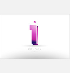 number 1 one black white pink logo icon design vector image
