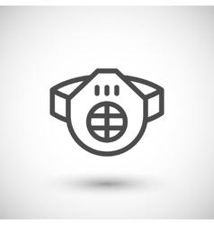 Protective respirator line icon vector