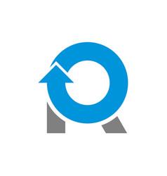 R round initial logo design simple minimalist vector