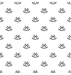 Rafting team pattern seamless vector