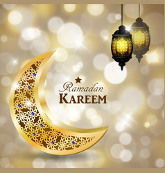 ramadan kareem greeting islamic design symbol vector image