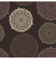 Retro background lace seamless pattern vector