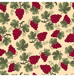 Seamless pattern with grapes vector