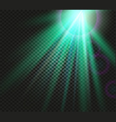 Shining green color light effects glowing vector