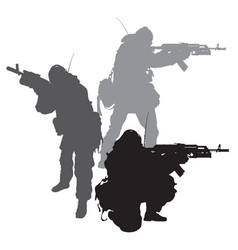 Spetsnaz silhouettes vector
