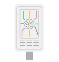 stand with a subway map flat isolated on white vector image