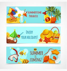 Summer Holidays Banners vector image