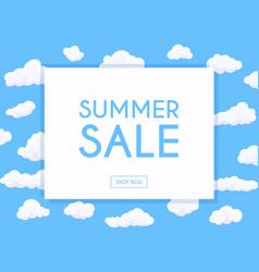 summer sale banner poster flyer cartoon white vector image