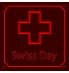 Swiss international day background vector image
