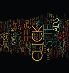 The ppc and adsense book text background word vector