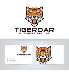 Tiger roar logo design vector