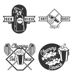 Vintage cleaning service emblems vector