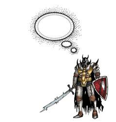 warrior with sword-100 vector image