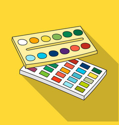 Watercolor paint icon in flat style isolated on vector
