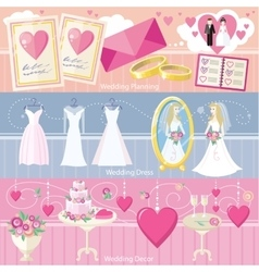 Wedding Planning Dress and Decor Concept vector image