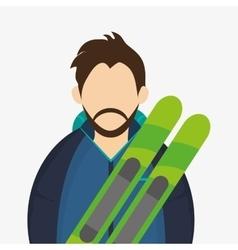 Winter design Sport icon Colorful vector image
