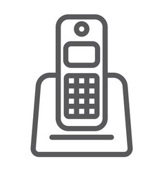 wireless telephone line icon appliance vector image