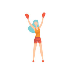 woman boxer character wearing sports uniform and vector image