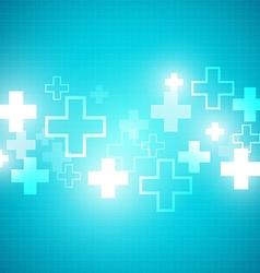 Blue medical design vector image vector image