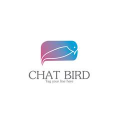 chat bird logo vector image