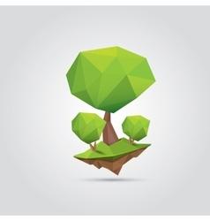 Conceptual polygonal tree vector image