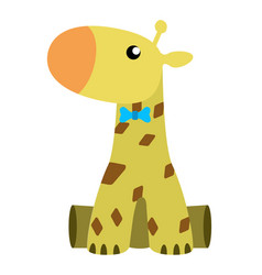 cute stuffed giraffe toy vector image