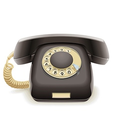 Old black phone vector image