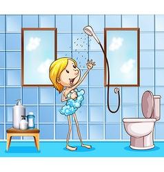 Showering vector image