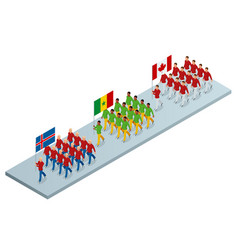 the opening ceremony concept carrying out the vector image
