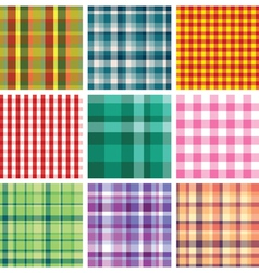 checkered print vector image vector image
