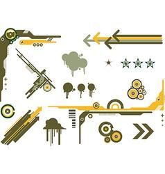 design elements camo vector image
