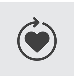 Heart reload icon vector