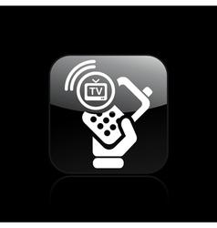 Phone tv icon vector