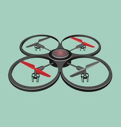 quadrocopter isolated on light green background vector image vector image