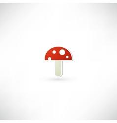 red mushroom icon vector image vector image