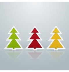Colored Fir-Trees Object Set One vector image vector image