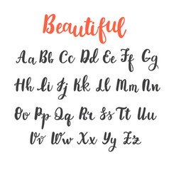 hand draw alphabet uppercase and lowercase vector image vector image