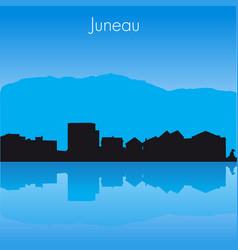 juneau skyline vector image vector image
