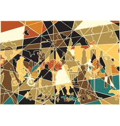 Parklife mosaic vector image vector image