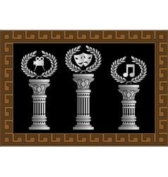 pedestal of arts vector image vector image