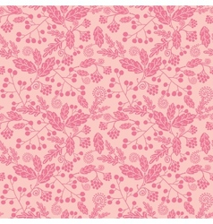 Pink silhouette flowers seamless pattern vector image vector image