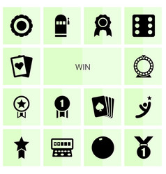 14 win icons vector