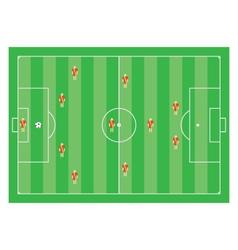 4-3-1-2 soccer scheme vector image