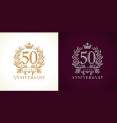 50 anniversary luxury logo vector